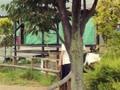 2017,8,15 スイス村 乗馬体験 舜くん